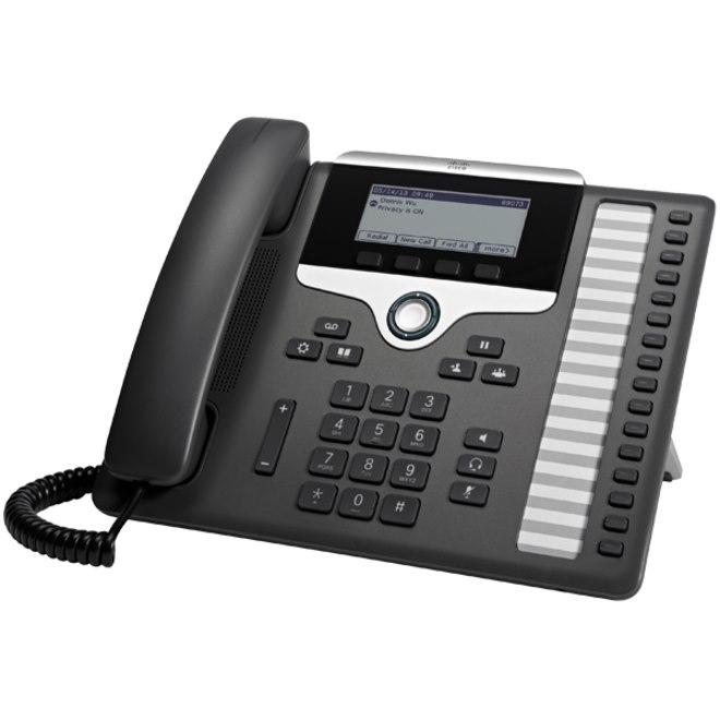 Cisco 7861 IP Phone - Corded - Wall Mountable - Charcoal