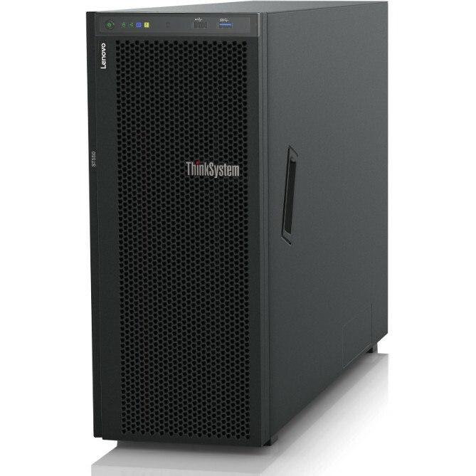 Lenovo ThinkSystem ST550 7X10A0AKAU 4U Tower Server - 1 x Intel Xeon Silver 4210 2.20 GHz - 32 GB RAM HDD SSD - 12Gb/s SAS, Serial ATA/600 Controller