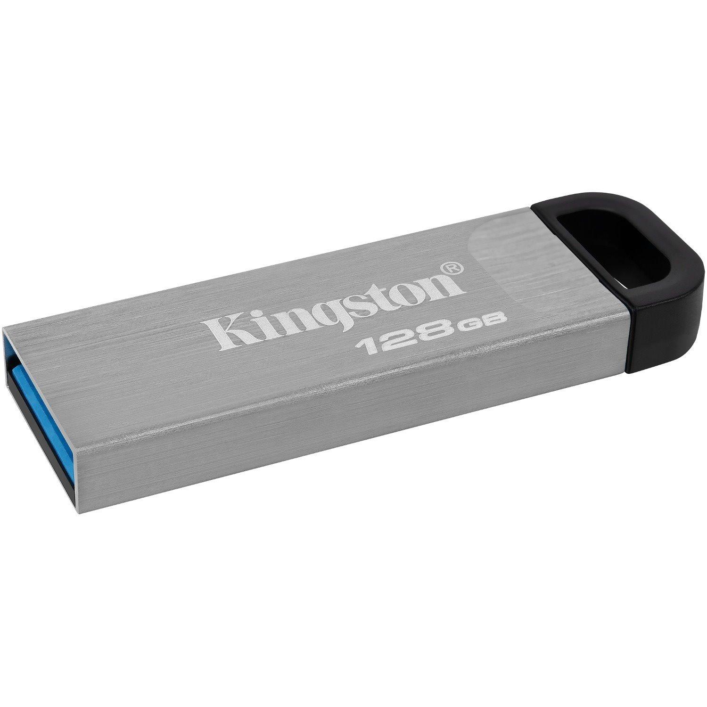 Kingston DataTraveler Kyson 128 GB USB 3.2 (Gen 1) Type A Flash Drive - Silver