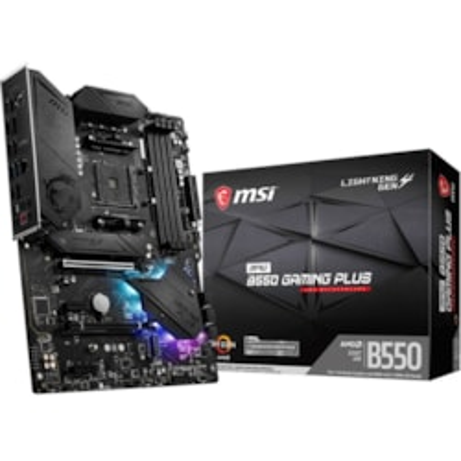 MSI MPG B550 GAMING PLUS Desktop Motherboard - AMD Chipset - Socket AM4 - ATX
