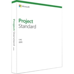 Microsoft Project 2019 Standard for Windows 10 - Box Pack - 1 PC - Medialess