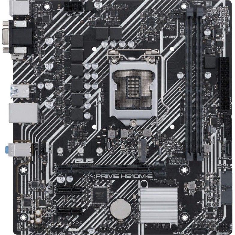 Asus Prime H510M-E Desktop Motherboard - Intel Chipset - Socket LGA-1200 - Micro ATX