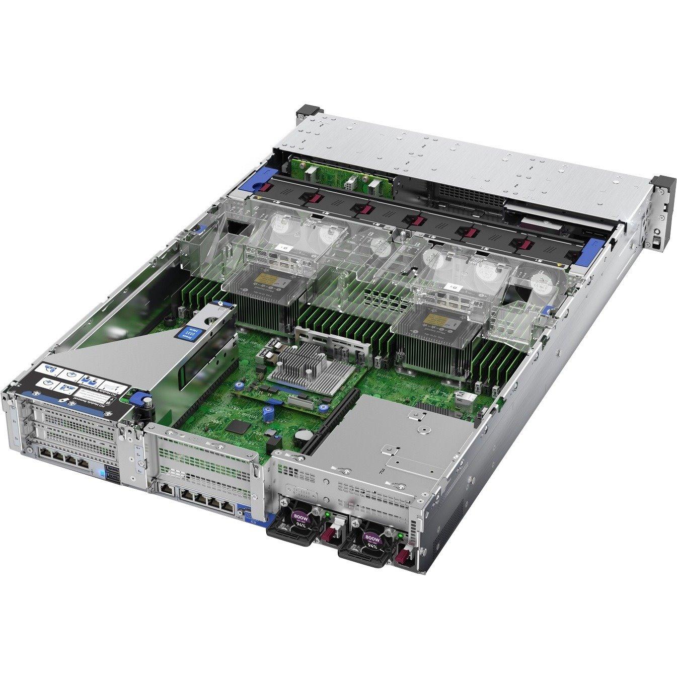 HPE ProLiant DL380 G10 2U Rack Server - 1 x Intel Xeon Gold 6242 2.80 GHz - 32 GB RAM - Serial ATA/600, 12Gb/s SAS Controller