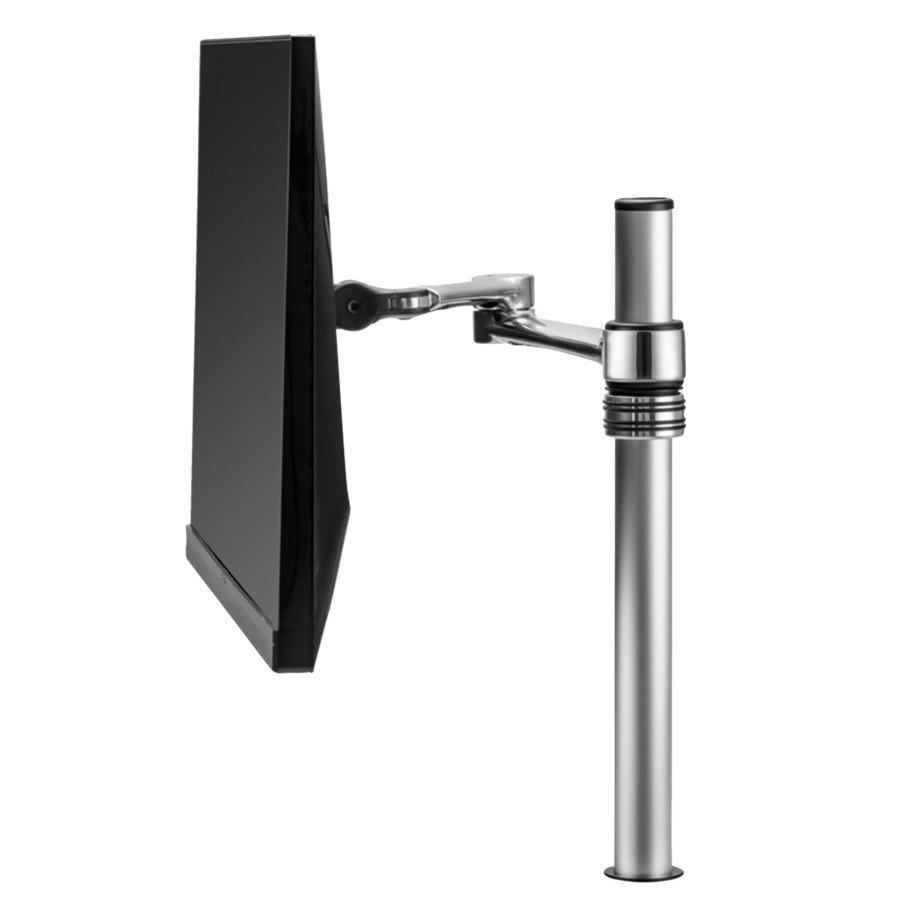 Atdec Desk Mount for LCD Display - Silver
