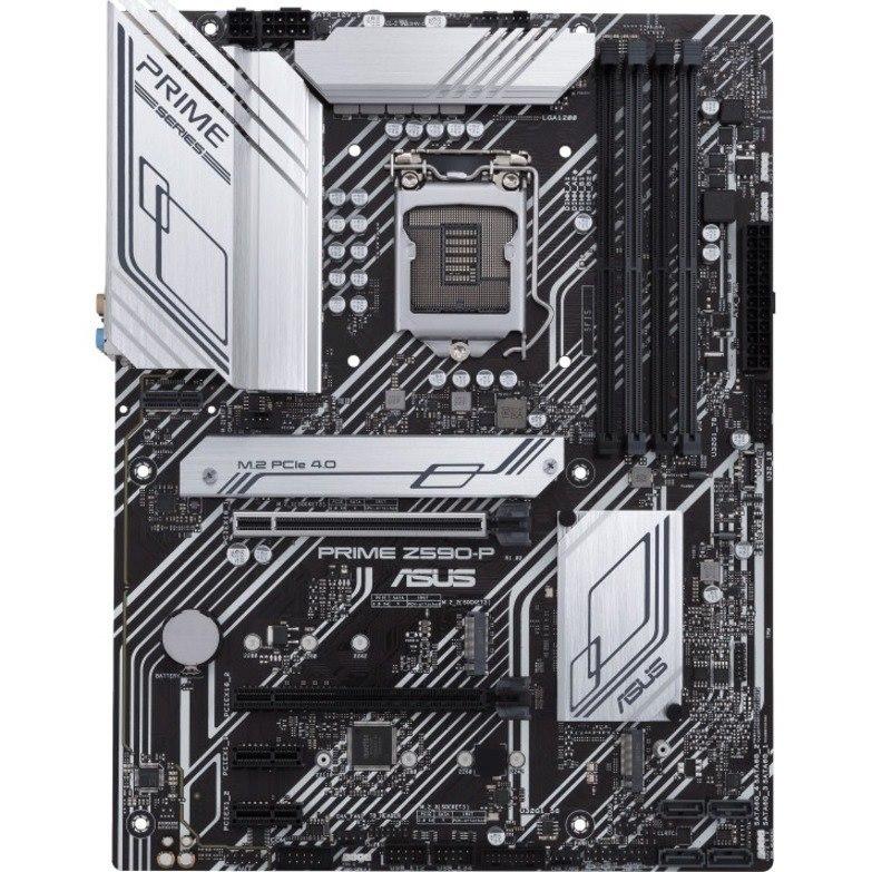 Asus Prime Z590-P/CSM Desktop Motherboard - Intel Chipset - Socket LGA-1200 - Intel Optane Memory Ready - ATX
