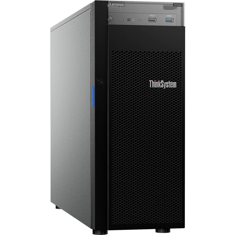Lenovo ThinkSystem ST250 7Y45A01NAU 4U Tower Server - 1 x Intel Xeon E-2144G 3.60 GHz - 16 GB RAM - Serial ATA/600 Controller