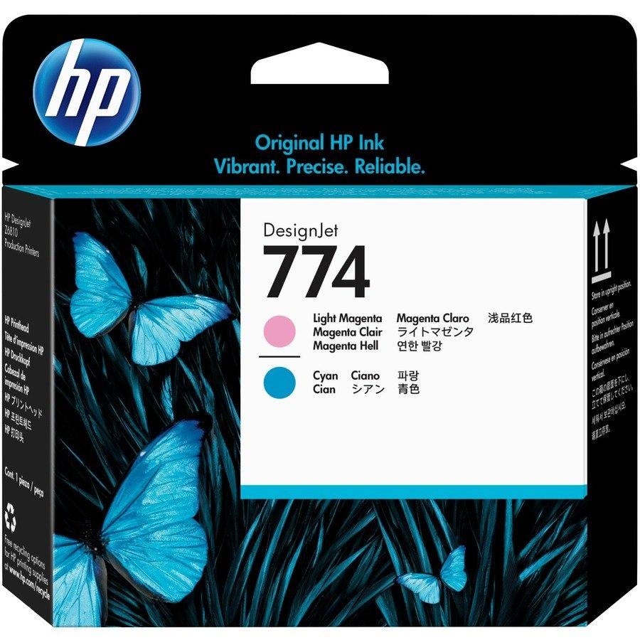 HP 774 Original Printhead - Light Magenta, Light Cyan