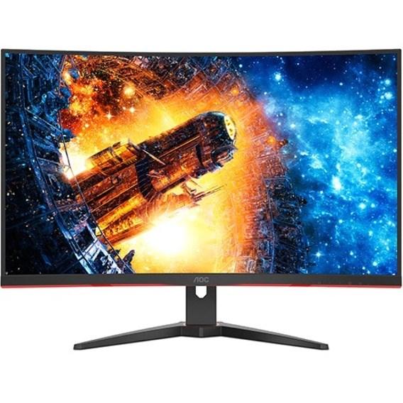 "AOC C32G2E 80 cm (31.5"") Full HD Curved Screen WLED Gaming LCD Monitor - 16:10 - Red, Black"
