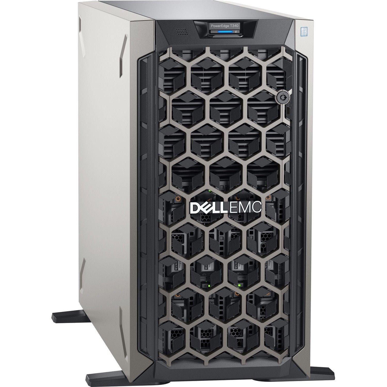 Dell EMC PowerEdge T340 5U Tower Server - 1 x Intel Xeon E-2224 3.40 GHz - 8 GB RAM - 1 TB HDD - (1 x 1TB) HDD Configuration - Serial ATA Controller