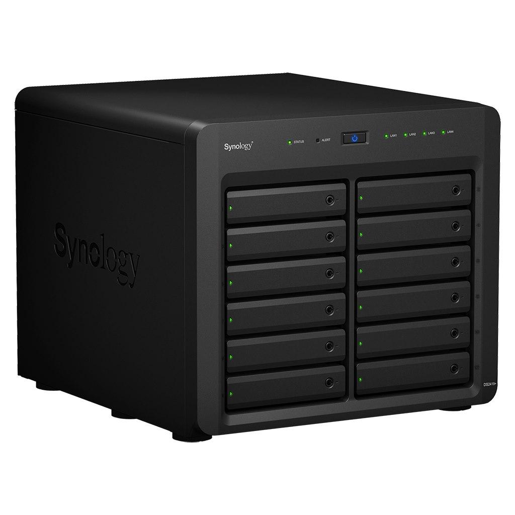 Synology DiskStation DS2419+ 12 x Total Bays SAN/NAS Storage System - Intel Atom Quad-core (4 Core) 2.10 GHz - 4 GB RAM - DDR4 SDRAM Desktop