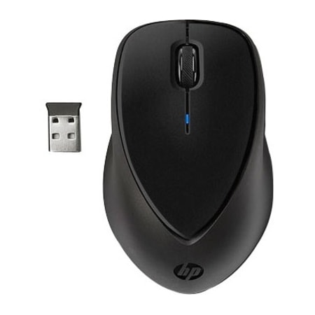HP Comfort Grip Mouse - Radio Frequency - USB - Optical - 3 Button(s) - Black - 1 Pack