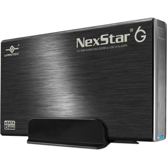 Vantec NexStar 6G NST-366SU3-BK Drive Enclosure - eSATA, USB 3.0 Host Interface - UASP Support External