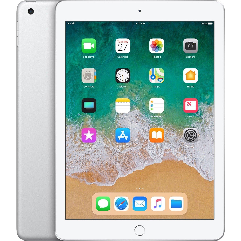 "Apple iPad Tablet - 24.6 cm (9.7"") - Hurricane Dual-core (2 Core) 2.34 GHz + Zephyr Dual-core (2 Core) - 128 GB Storage - iOS 11 - Silver"