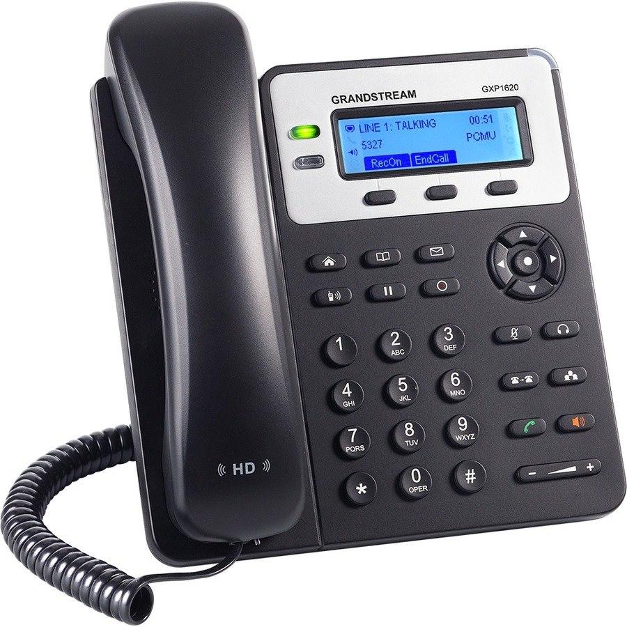 Grandstream GXP1620 IP Phone - Corded - Wall Mountable - Black