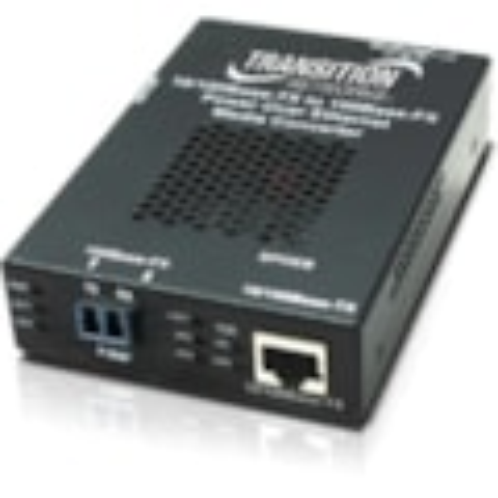 Transition Networks Stand-alone Fast Ethernet PoE Media Converter