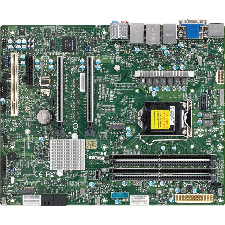 Supermicro X12SCA-F Workstation Motherboard - Intel Chipset - Socket LGA-1200 - ATX