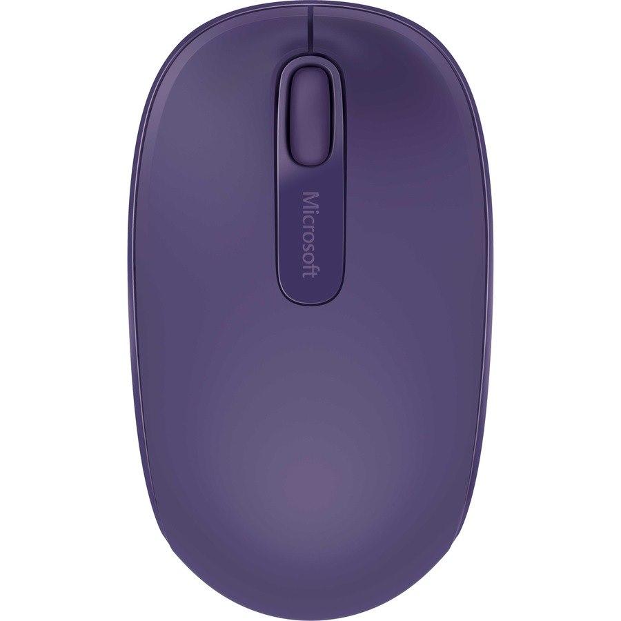 Microsoft 1850 Mouse - Radio Frequency - USB - Optical - Purple