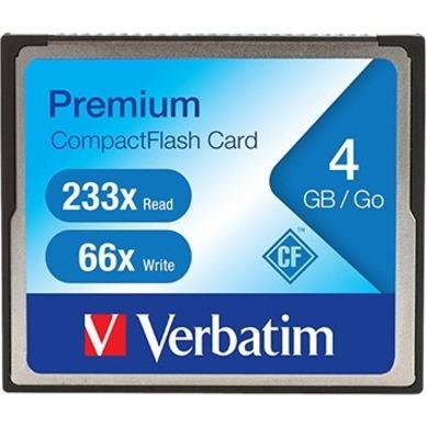 Verbatim 4GB 233X Premium CompactFlash Memory Card