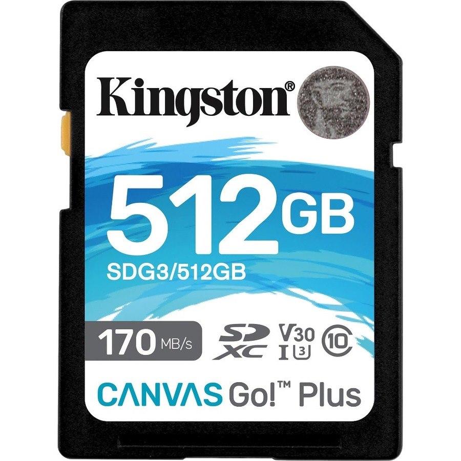 Kingston Canvas Go! Plus 512 GB Class 10/UHS-I (U3) SDXC