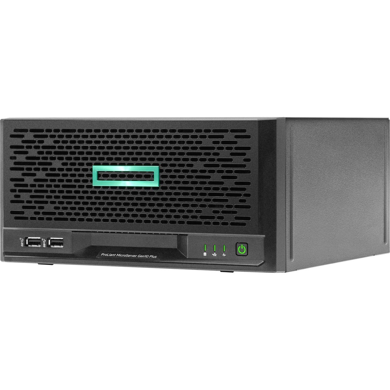 HPE ProLiant MicroServer Gen10 Plus Ultra Micro Tower Server - Intel C242 SoC - 1 x Intel Xeon E-2224 3.40 GHz - 8 GB RAM - Serial ATA/600 Controller