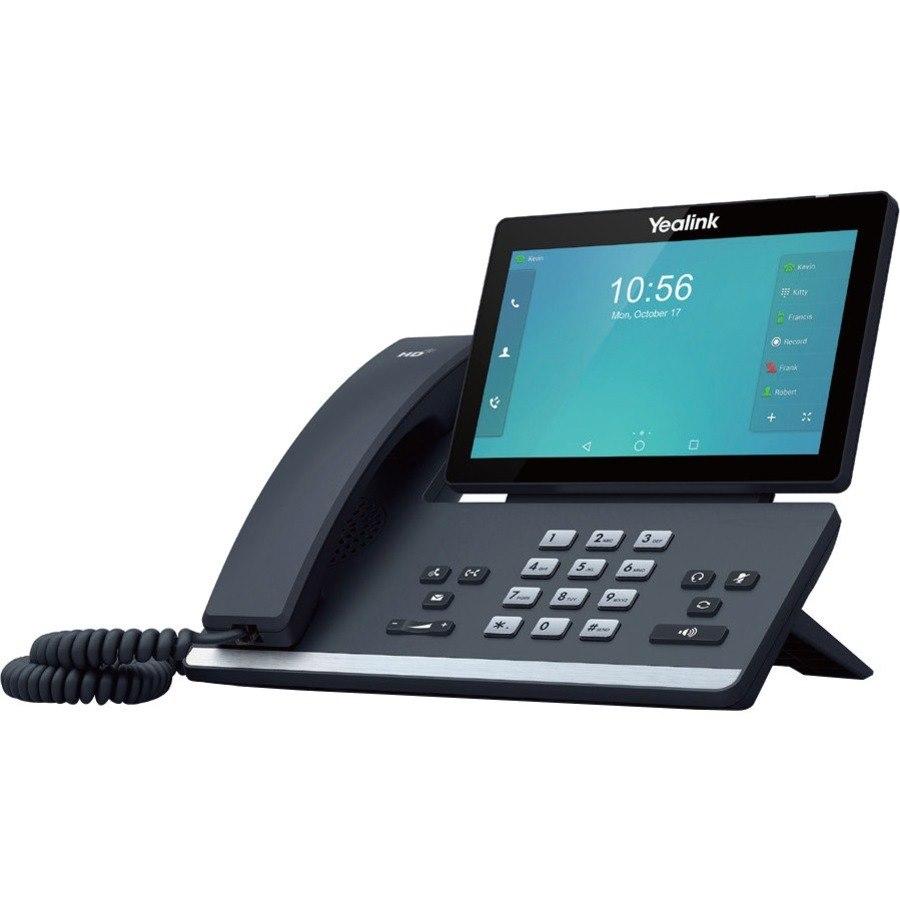 Yealink SIP-T56A IP Phone - Corded - Wi-Fi, Bluetooth - Wall Mountable, Desktop - Black