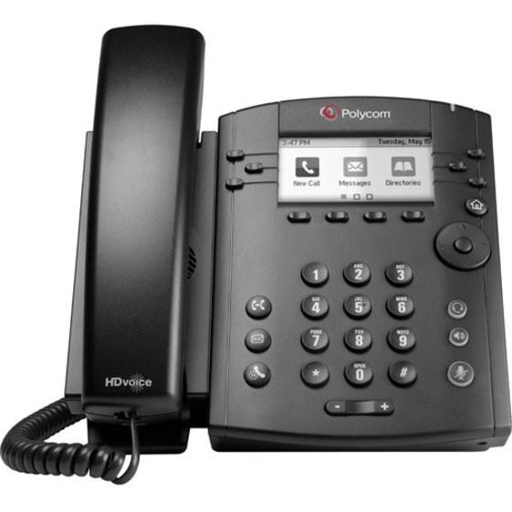Poly VVX 301 IP Phone - Corded - Desktop - Black