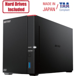 Buffalo LinkStation SoHo 720DB 4TB Hard Drives Included (2 x 2TB, 2 Bay)