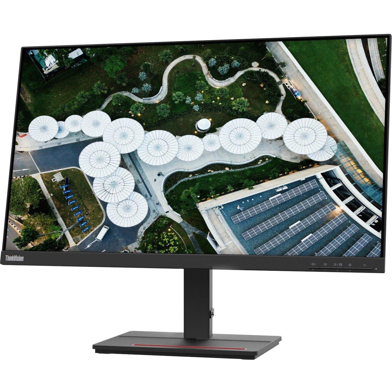 """Lenovo ThinkVision S24e-20 60.5 cm (23.8"""") Full HD WLED LCD Monitor - 16:9 - Raven Black"""