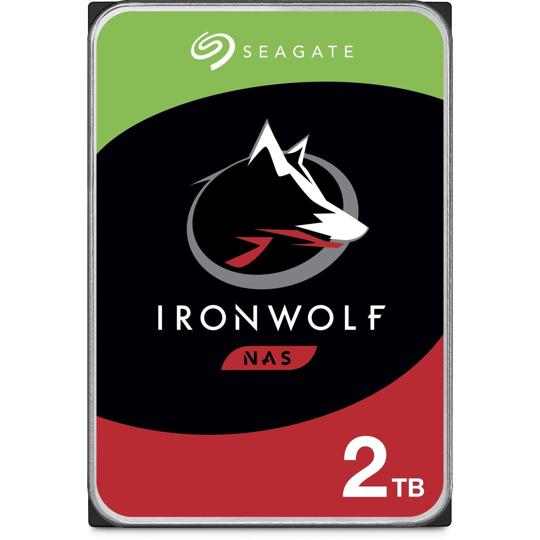 "Seagate IronWolf ST2000VN004 2 TB Hard Drive - 3.5"" Internal - SATA (SATA/600) - Conventional Magnetic Recording (CMR) Method"