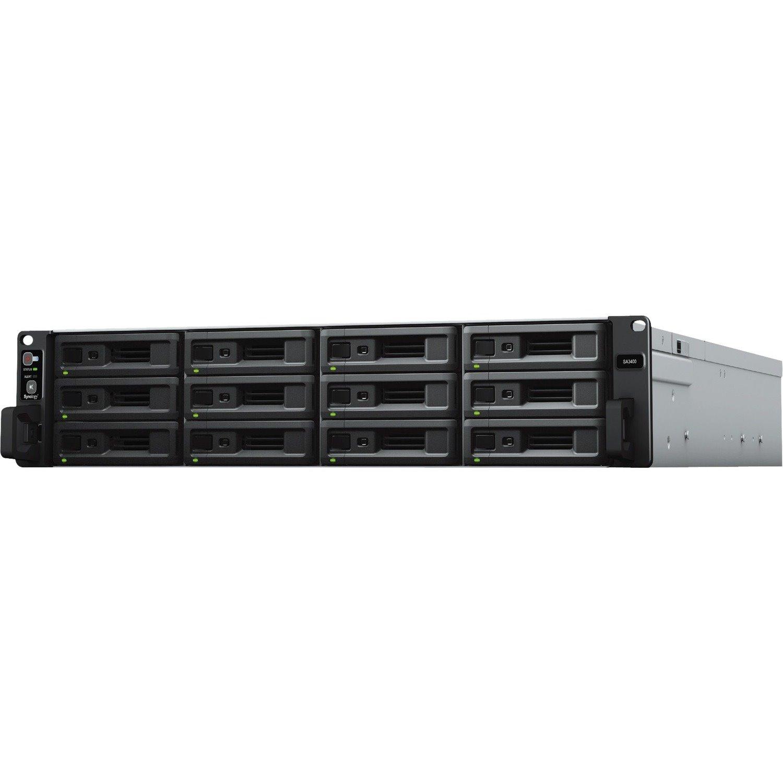 Synology SA3400 12 x Total Bays SAN/NAS Storage System - Intel Xeon Octa-core (8 Core) 2.10 GHz - 16 GB RAM - DDR4 SDRAM - 2U Rack-mountable