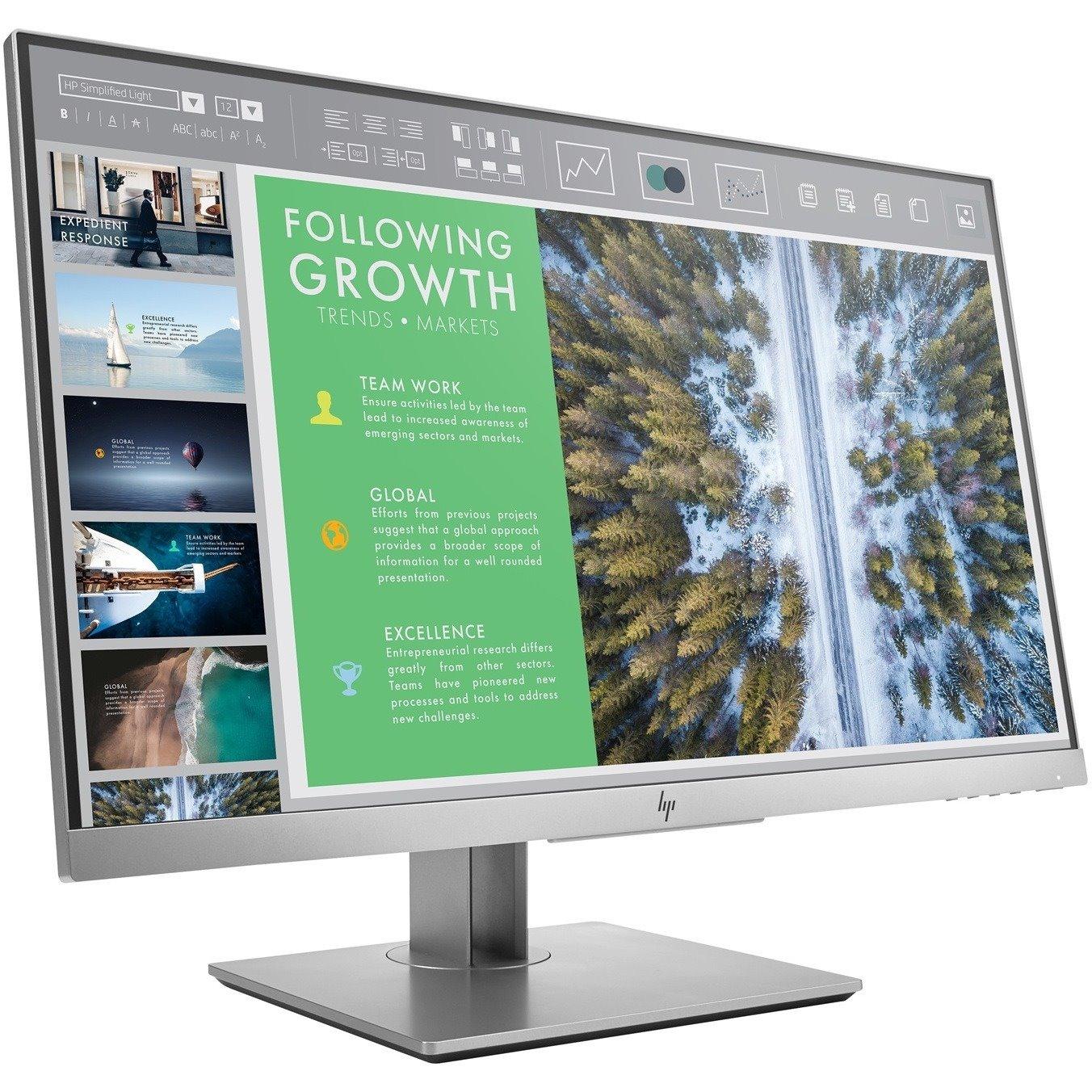 "HP Business E243 60.5 cm (23.8"") Full HD LED LCD Monitor - 16:9 - Black"