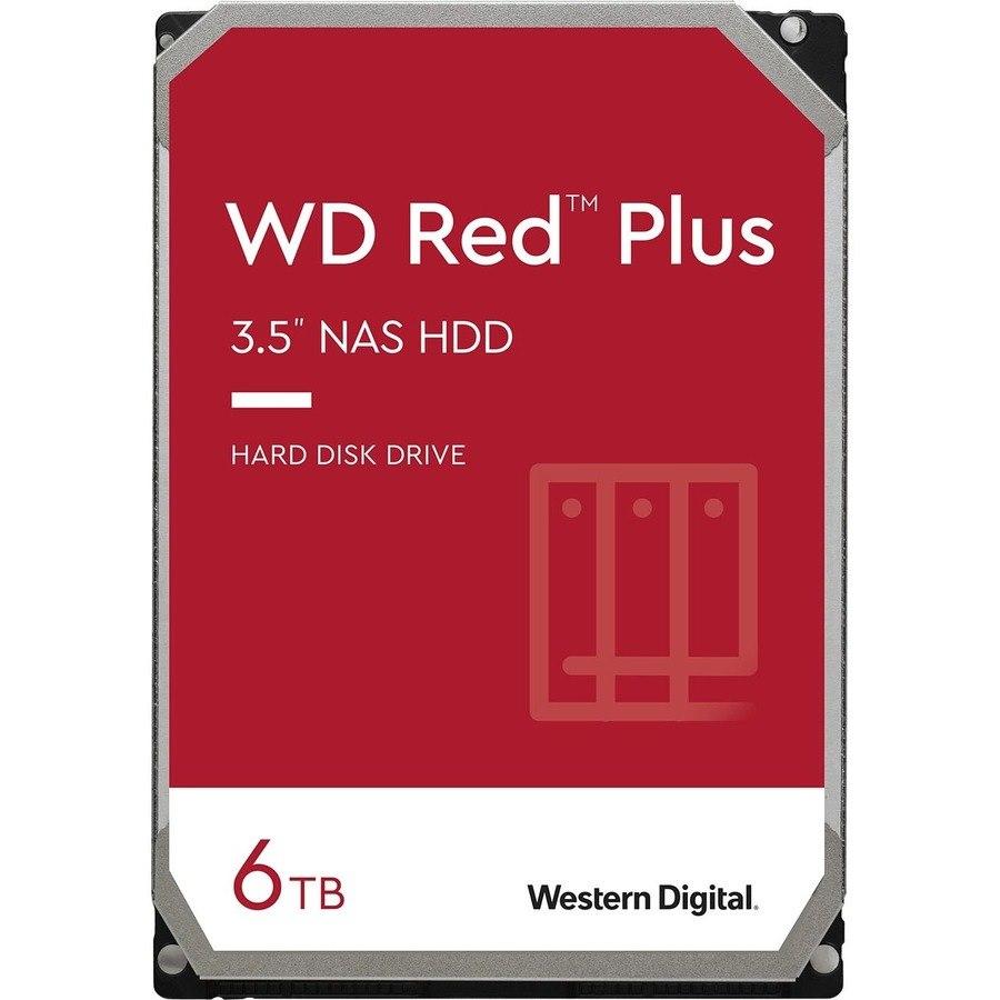 """WD Red Plus WD60EFRX 6 TB Hard Drive - 3.5"""" Internal - SATA (SATA/600)"""