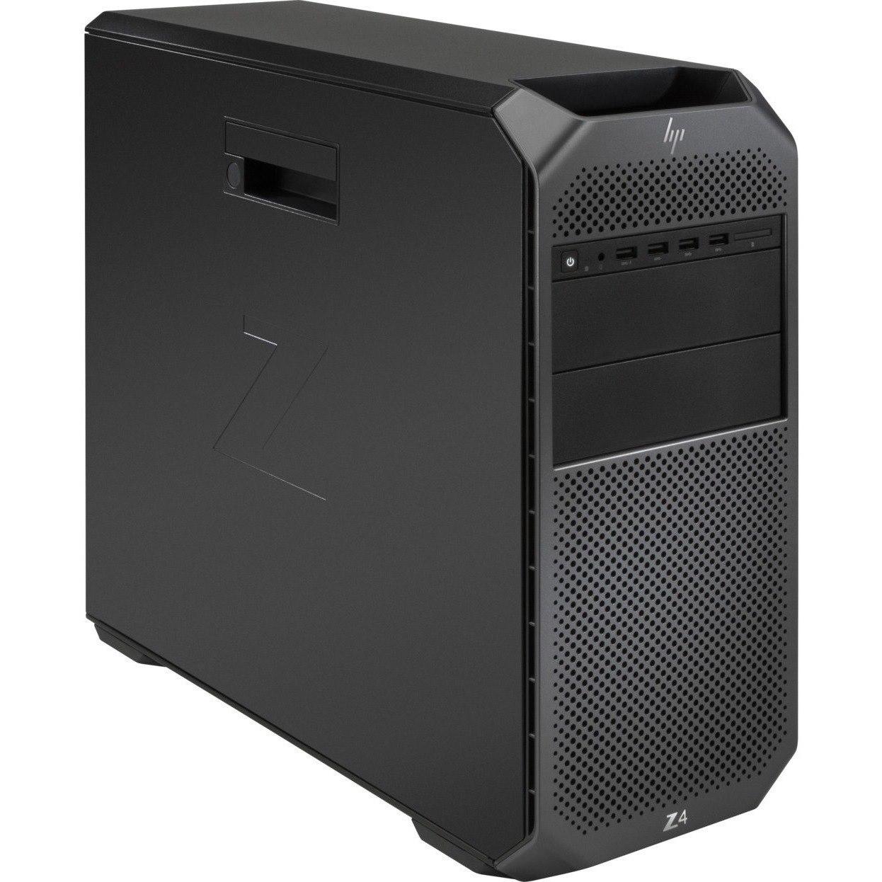 HP Z4 G4 Workstation - 1 x Intel Xeon Octa-core (8 Core) W-2245 3.90 GHz - 64 GB DDR4 SDRAM RAM - 2 TB HDD - 1 TB SSD - Mini-tower - Black