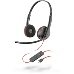 Plantronics Blackwire C3220 Wired Over-the-head Stereo Headset - Black