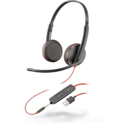 Plantronics Blackwire C3225 Wired Over-the-head Stereo Headset - Black