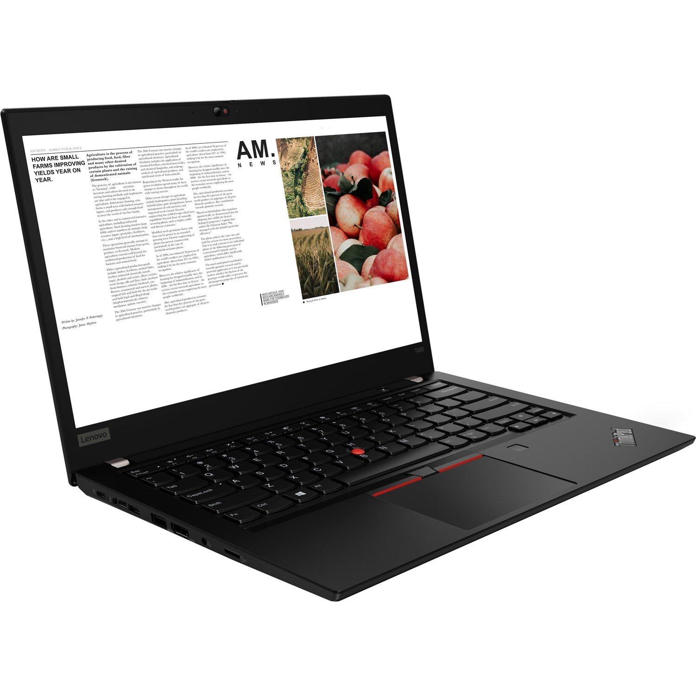 "Lenovo ThinkPad T490 20N2S04000 35.6 cm (14"") Notebook - 1920 x 1080 - Intel Core i5 (8th Gen) i5-8265U Quad-core (4 Core) 1.60 GHz - 16 GB RAM - 256 GB SSD - Glossy Black"