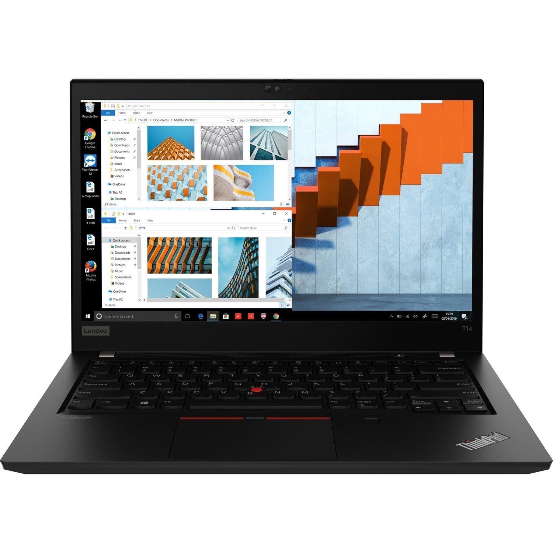 "Lenovo ThinkPad T14 Gen 1 20S00041AU 35.6 cm (14"") Touchscreen Notebook - Full HD - 1920 x 1080 - Intel Core i5 (10th Gen) i5-10210U Quad-core (4 Core) 1.60 GHz - 16 GB RAM - 512 GB SSD - Black"