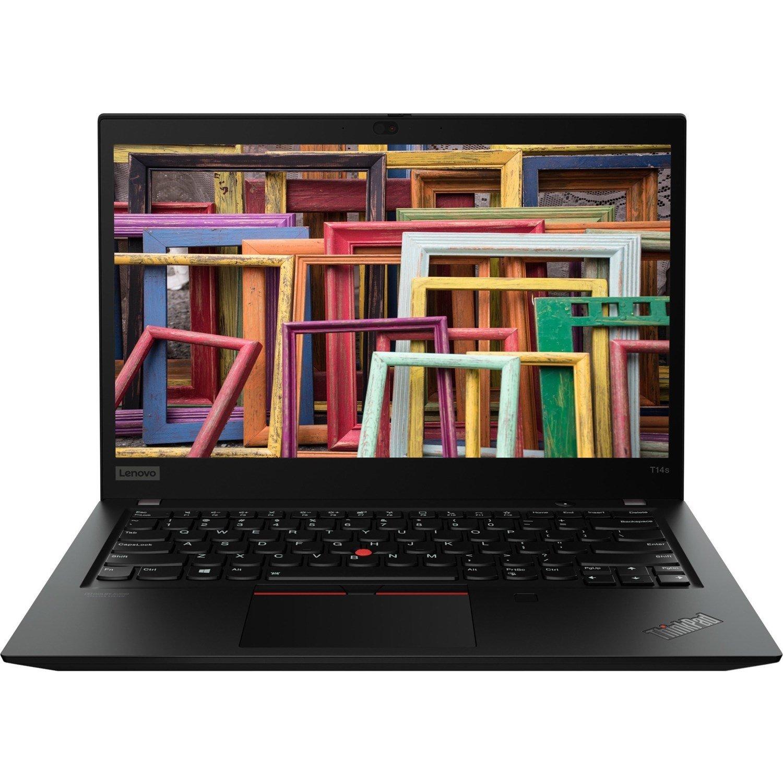 """Lenovo ThinkPad T14s Gen 1 20T0003QAU 35.6 cm (14"""") Notebook - Full HD - 1920 x 1080 - Intel Core i5 (10th Gen) i5-10210U Quad-core (4 Core) 1.60 GHz - 16 GB RAM - 256 GB SSD - Black"""