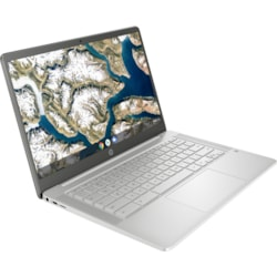 "HP Chromebook 14a-na0000 14a-na0017TU 35.6 cm (14"") Chromebook - HD - 1366 x 768 - Intel Celeron N4020 Dual-core (2 Core) 1.10 GHz - 4 GB RAM - 64 GB Flash Memory - Mineral Silver"