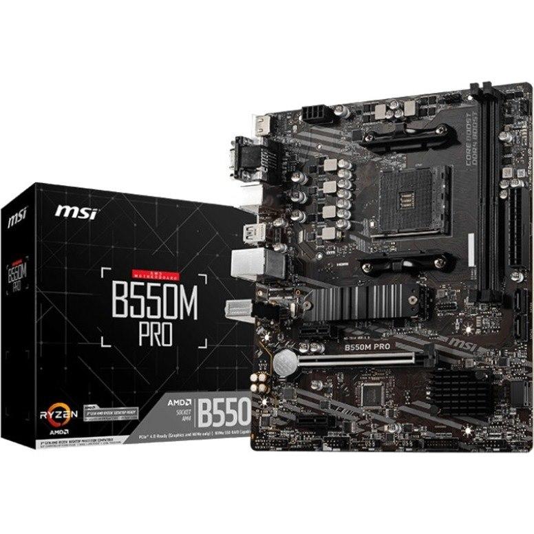MSI B550M PRO Desktop Motherboard - AMD Chipset - Socket AM4 - Micro ATX