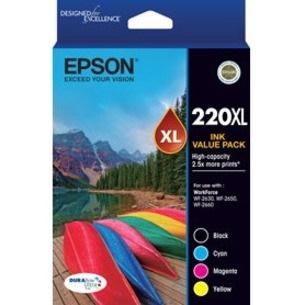 Epson DURABrite Ultra 220XL Original Ink Cartridge - Value Pack - Black, Cyan, Magenta, Yellow