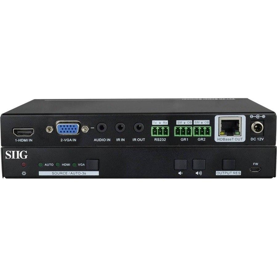 SIIG HDMI/VGA 2x1 HDBaseT 4K Scaler Switcher