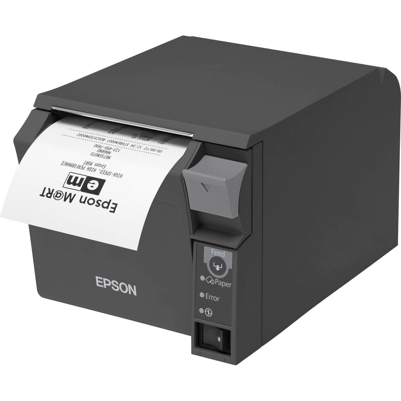 Epson TM-T70II Desktop Direct Thermal Printer - Monochrome - Receipt Print - Ethernet - USB