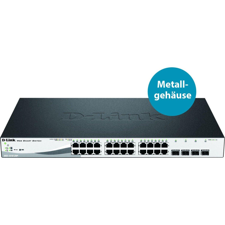 D-Link WebSmart DGS-1210-28P 24 Ports Manageable Ethernet Switch