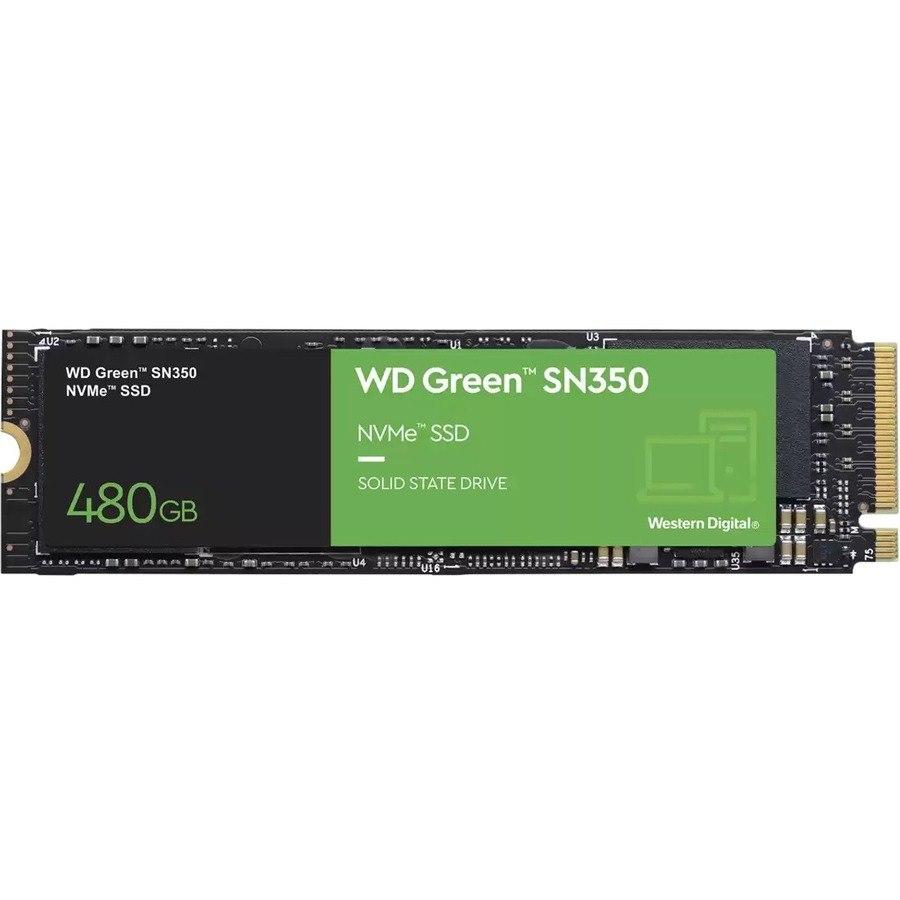 WD Green SN350 WDS480G2G0C 480 GB Solid State Drive - M.2 2280 Internal - PCI Express NVMe (PCI Express NVMe 3.0 x4)