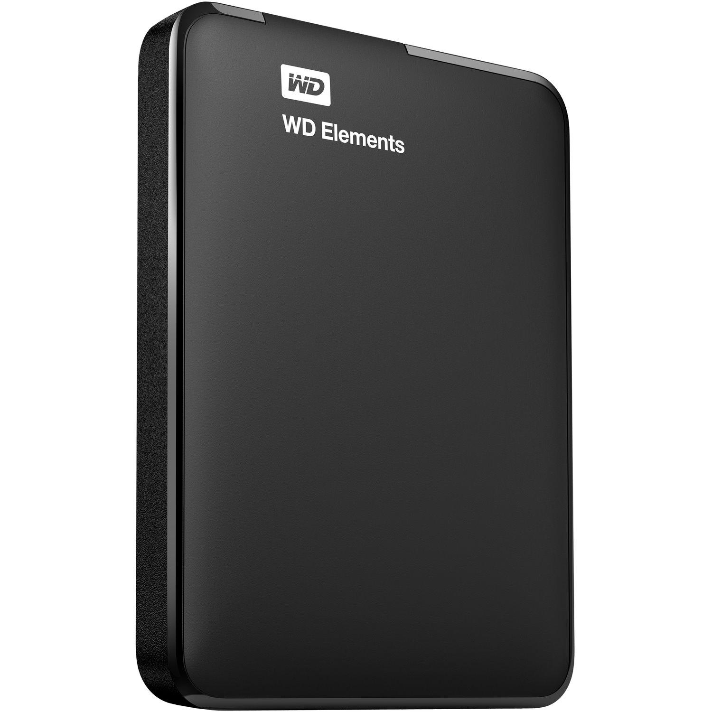 WD Elements WDBUZG0010BBK 1 TB Portable Hard Drive - External