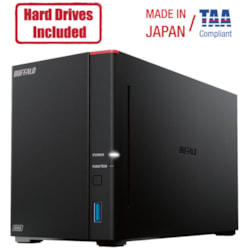 Buffalo LinkStation 720D 8TB Hard Drives Included (2 x 4TB, 2 Bay)
