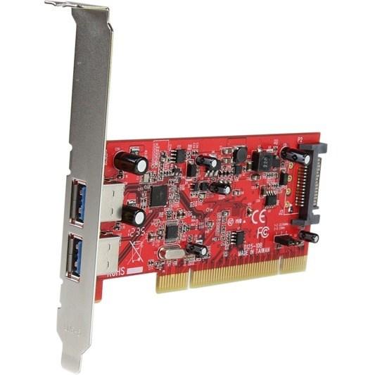 StarTech.com USB Adapter - PCI-X - Plug-in Card - Red - TAA Compliant