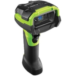Zebra DS3678-ER Rugged Industrial, Warehouse, Manufacturing Handheld Barcode Scanner Kit - Wireless Connectivity - Industrial Green - USB Cable Included