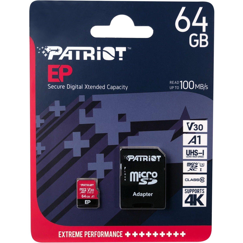 Patriot Memory 64 GB Class 10/UHS-I (U3) microSDXC